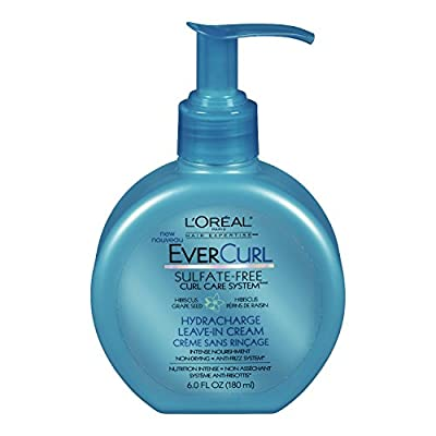 L'Oreal Paris EverCurl Hydracharge Leave-In Cream, 6.0 Fluid Ounce