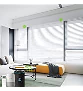 Yoolax Motorized Window Blind Shangri-la Sheer Shade Work with Alexa, Remote Control Wireless Bat...