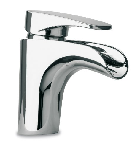Latoscana Water - LaToscana 86CR211WFS Ove Small Waterfall Single Handle Lavatory Faucet, Chrome Finish