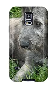 Evelyn C. Wingfield's Shop New Style 3160607K52342468 Hot Design Premium Tpu Case Cover Galaxy S5 Protection Case(irish Wolfhound Puppies)