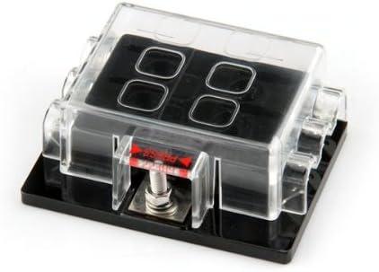 Carchet Kfz 6 Fach Sicherungshalter Sicherungsdose Sicherungsbox Für Flachsicherung Auto