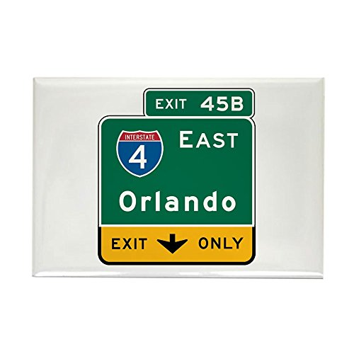 CafePress Orlando, FL Highway Sign Rectangle Magnet, 2
