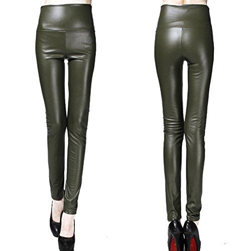 paissir Hibote C81 Femme Taille Pantalons Cuir Slim Elastique Haute Pu Stretch Crayon 4fd6fw