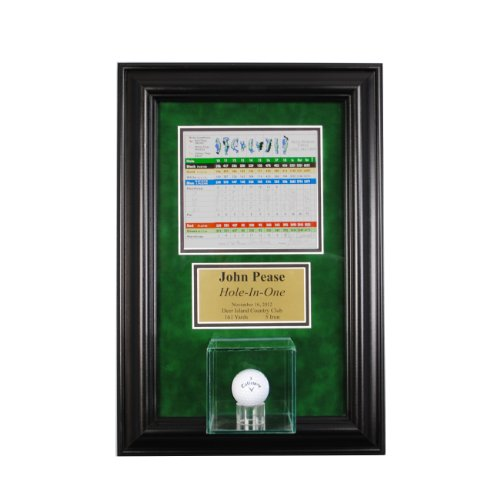 Perfect Cases Hole in One Golf Ball Glass Display Case Wall Mounted - One Ball Display Case