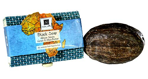 Black Bar Soap with African Spices. Honey & Shea Butter by Nabila ()