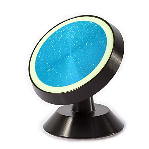 Price comparison product image Magnetic Cell Phone Holder Light Blue Glitter Color Car Phone Mount for Car Dashboard Phone Stand Compatible with Phone X / 6 / 6s / 7 / 8 / 8 Plus / 7, Galaxy S9 S8 S7 S6 LG Note 8 5 4 Tablet