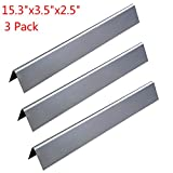 GASPRO Stainless Steel Flavorizer Bars Replacement for Weber Spirit 200 and E210 Series Gas Grills (L15.3 x W3.5x H2.5 inch)(3 Pack)