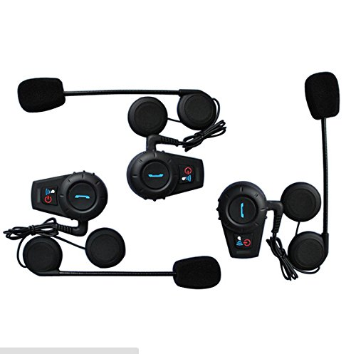 DragonPad 1pcs Hot Sale 500M Motorcycle BT Bluetooth Interphone Headset Helmet Intercom Handfree Wireless Intercom Motorcycle