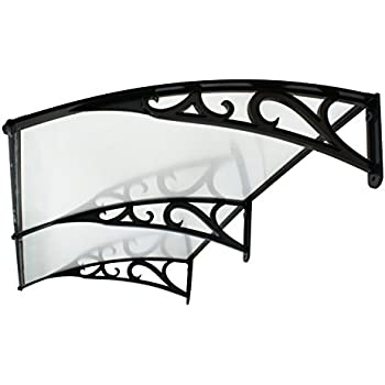 Super Deal 40 x 80  Overhead Door Window Outdoor Awning Door Canopy Patio Cover Modern Polycarbonate Rain Snow Protection (Pattern Frame)  sc 1 st  Amazon.com & ZENY 40