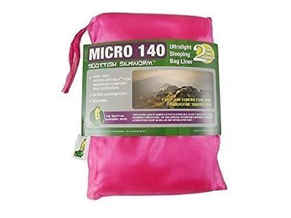 Saco de Dormir Saco de Dormir Térmico Inlett Micro Seda Art Sleeping Bag Liner 140G Fucsia