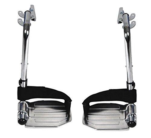 Drive Medical Swing Away Footrests with Aluminum Footplates, Black (Leg Swing Away)