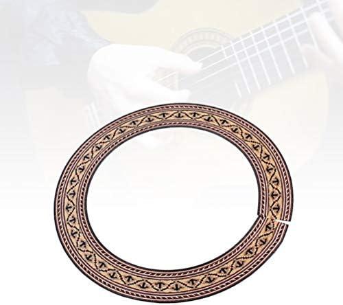 SUPVOX Guitarra Roseta Soundhole Calcoman/ía Etiqueta Adhesiva para Guitarra Tenor Ukeleles Instrumento Musical Accesorio