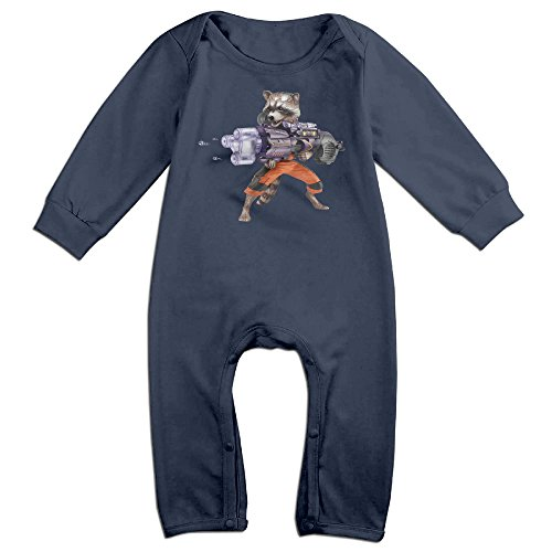 [OLGB Newborn Cartoon Raccoon And Groot Long Sleeve Bodysuit 12 Months] (Comic Book Couples Costumes)