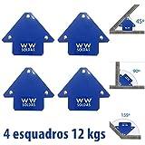 Esquadro 4 Peças Magneticos 12kg P/Solda Wwsoldas
