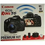 Canon EOS Rebel T6 DSLR Camera w/ 18-55mm IS II + 75-300mm III Double Zoom Kit