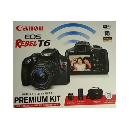 Cheap Canon EOS Rebel T6 DSLR Camera w/ 18-55mm IS II + 75-300mm III Double Zoom Kit