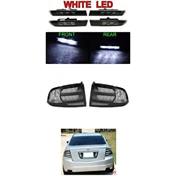 Amazon Com 04 08 Acura Tl Black Clear Tail Lights