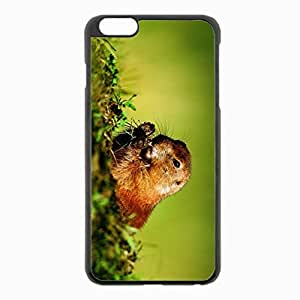 iPhone 6 Plus Black Hardshell Case 5.5inch - marmot jerboa grass sit Desin Images Protector Back Cover