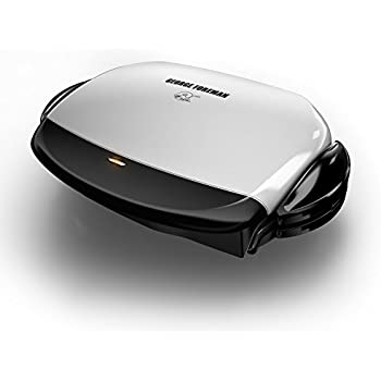 George Foreman GRP4 Next Grilleration 5-Burger Grill with Removable Plates, White
