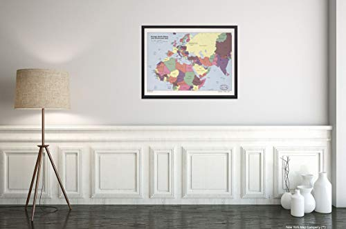 1986 Map|Title: Europe, North Africa, and Southwest Asia|Subject: Eastern Hemisphere Map Size: 18 in