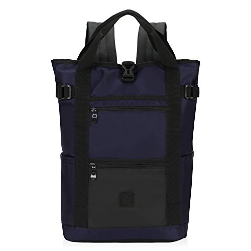 (Hynes Eagle Water Resistant Slim Casual Daypack Fits 15.6 inch Laptop Navy Blue)