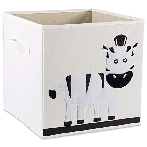 E-Living Store Collapsible Storage Bin Cube for Bedroom, Nursery, Playroom and More 13x13x13 - Zebra