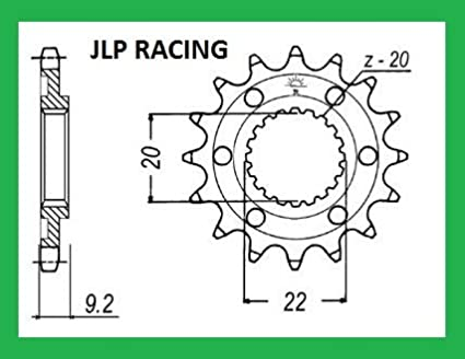 PIGNON 13 DENTS KIT CHAINE POUR KAWASAKI 250 KXF JLP RACING