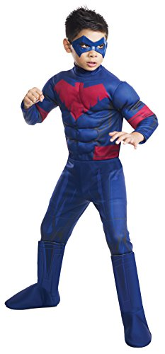 [Batman Unlimited Nightwing Deluxe Costume, Child's Medium] (Kids Batman And Robin Costumes)