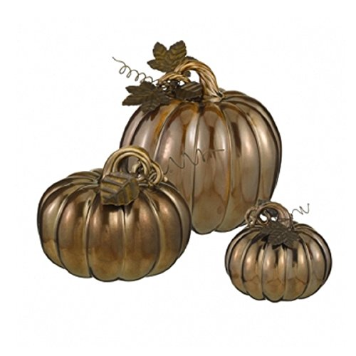 Set of 3 Bronze Pumpkins