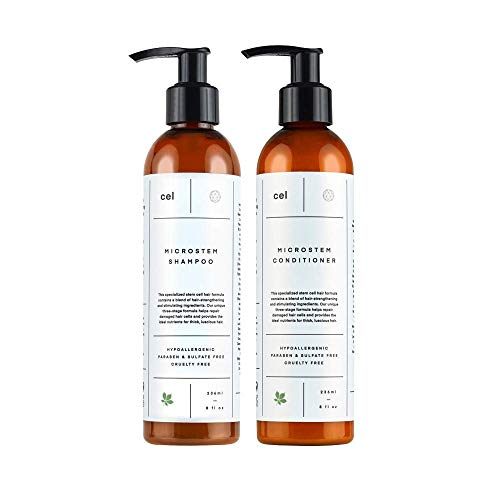 CEL MD Stem Cell Hair Growth Thickening Shampoo and Conditioner for Women and Men | Hair Loss Regrowth, Damaged Hair Thinning Treatment | Biotin Nettle Leaf Ginseng Keratin Glycerin (Best Shampoo And Conditioner For Soft Hair)