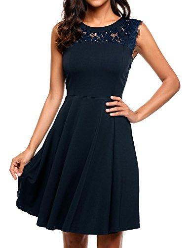 navy sleeveless dress - 8