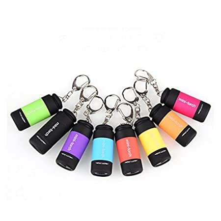 Sunsbell 1pcs Llavero Linterna recargable LED USB Key Ring ...