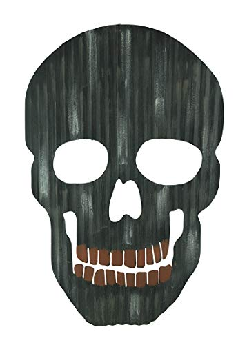 Direct International Giant Black Metal Scary Face Skull Halloween Wall Hanging -