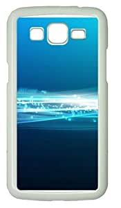linJUN FENGBlue Band Polycarbonate Hard Case Cover for Samsung Grand 2/7106 White