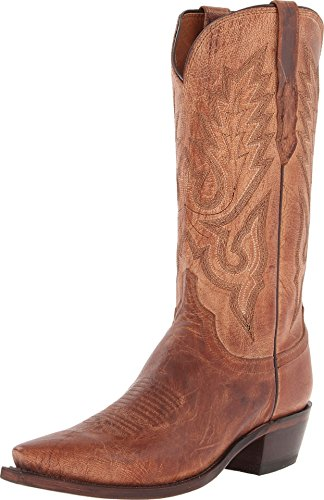 - Lucchese Men's M1008.54 Tan Mad Dog Goat Boot 11 D - Medium