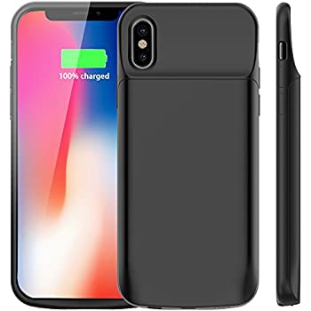 Vproof IPhone X Battery Case 6000mAh Rechargeable External Portable Power Charger Protective Charging