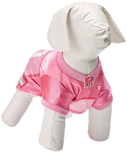 Pets First NFL Oakland Raiders Pet Jersey, Small, pink