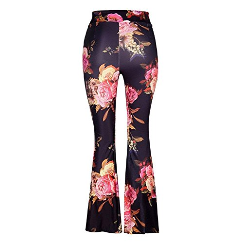 Vintage Elegante Campana Glamorous Primaverile Modello Pants Autunno Pantaloni Slim Lunga Colpo Pantaloni Palazzo Fiore Moda HaiDean Tempo Semplice 2 Pantaloni Pantaloni Donna Colour Libero Fit A FIzqn7