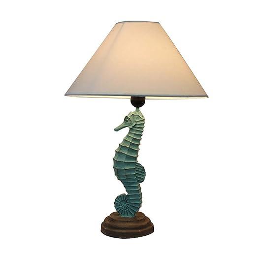 HNYD Lámpara de Escritorio Vintage Lámpara de Mesa Creativa Resina ...