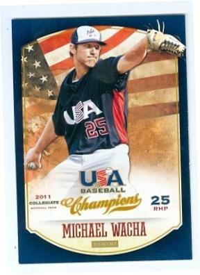 Michael Wacha baseball card (St Louis Cardinals Pitcher) 2013 USA Champions #122 Rookie ()