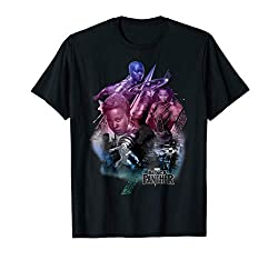 Marvel Black Panther Movie Heroine Poses Graphic T Shirt