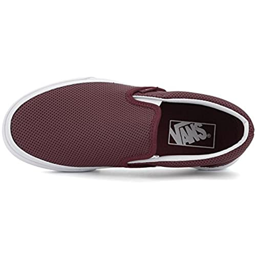 85%OFF Vans Classic Slip-On Perf Leather Port Skate Women s Shoes 08ef7000d