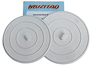Sink Stopper (2 Pack) Rubber Bathtub Drain Stopper U0026 Kitchen Sink Plug The  Best Universal Sink Stopper And Travel Plug By Muzitao