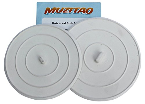 Muzitao Sink Stopper (2 Pack) Rubber Bathtub Drain Stopper & Kitchen Sink Plug The Best Universal Sink Stopper and Travel Plug