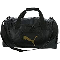 PUMA Men's Evercat Contender 3.0 Duffel Bag (Black/Gold)