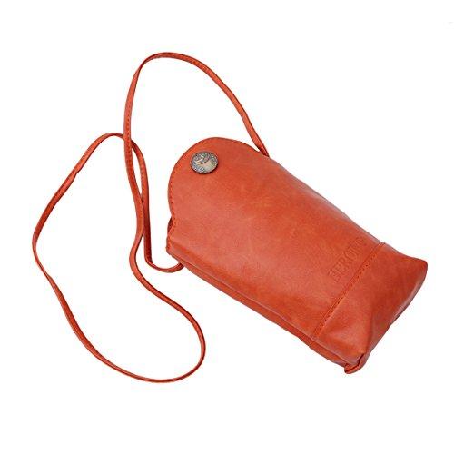 Yesiidor Umhängetasche Taschen Damen Klein Elegant Umhänge Shopper Handtasche Orange