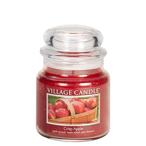 Macintosh Candle Apple - Village Candle Crisp Apple 16 oz Glass Jar Scented Candle, Medium