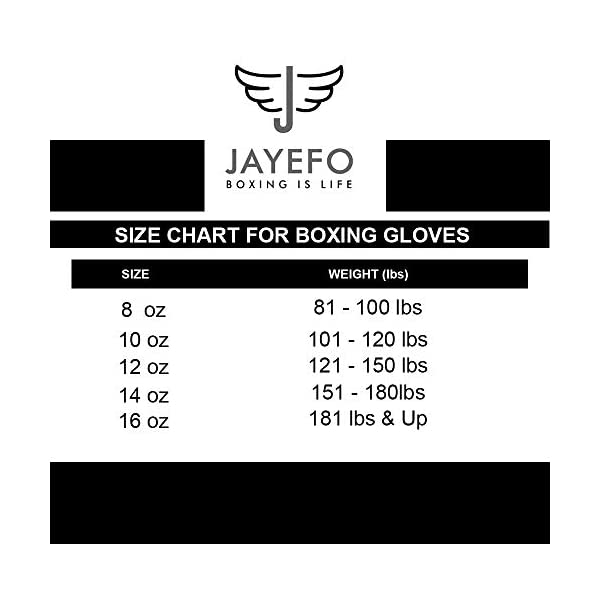 Jayefo Glorious Boxing Gloves Muay Thai Kick Boxing Leather Sparring Heavy Bag Workout Pro Leather Gloves Mitts Work for Men & Women 4