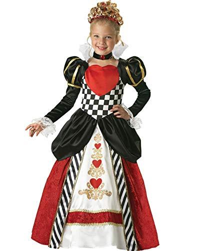 Queen Of Hearts Girls Elite Costume ()