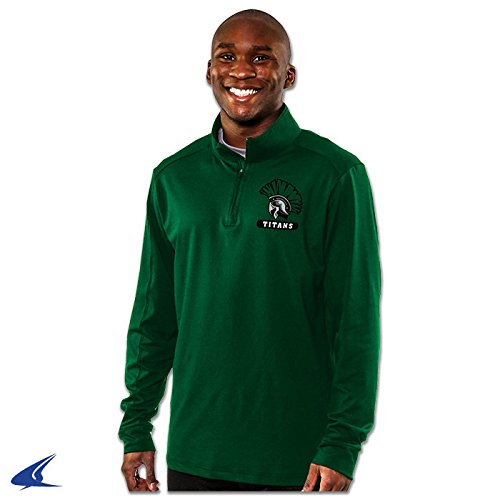 CHAMPRO Element Micro-Flex Quarter (1/4) Zip Pullover Warm Up Jersey - 3XL - Forest Green - Adult